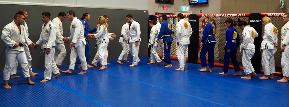 gracie brazilian jiu jitsu smeaton grange training end of class