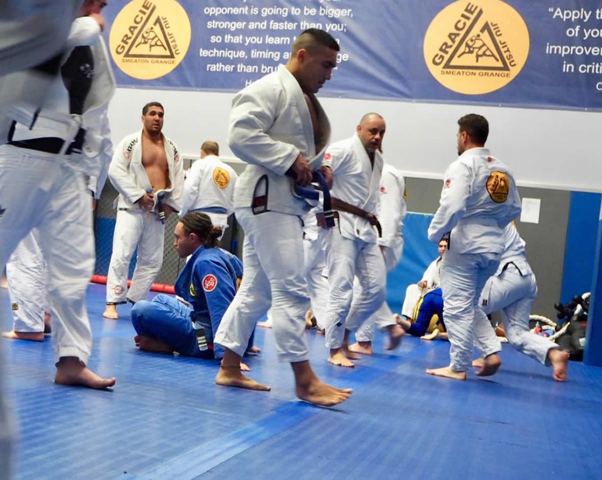 gracie jiu jitsu smeaton grange training session
